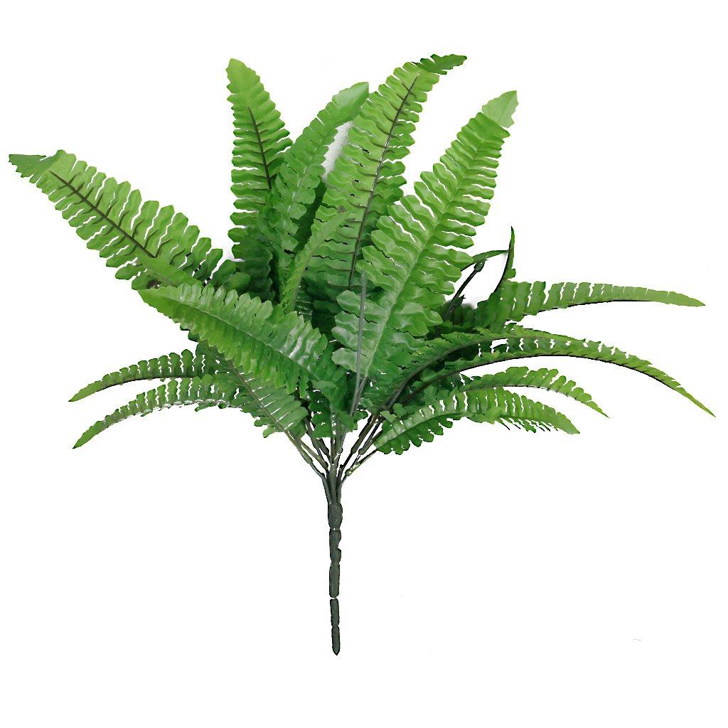1 Branche Fougère Artificielle en Plastique Pour Décoration de Maison Mariage - Vert