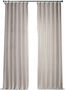 HPD Half Price Drapes LN-XS17 French Linen Curtain (1 Panel), 50 X 120, Ancient Ivory