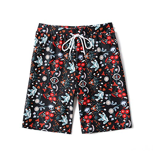 OME&QIUMEI Beach Pants Fast Dry Badeort Am Meer Lose Spa Hosen