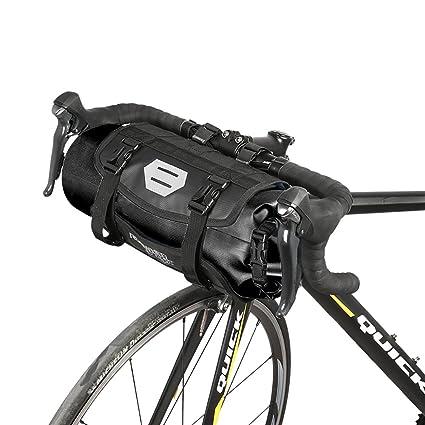 Roswheel Bolsa Delantera de Bicicleta, 100% Impermeable Bolsa para los Manillares de Bicicleta Apertura Roll-up Poliéster con Interfaz de Faros de ...