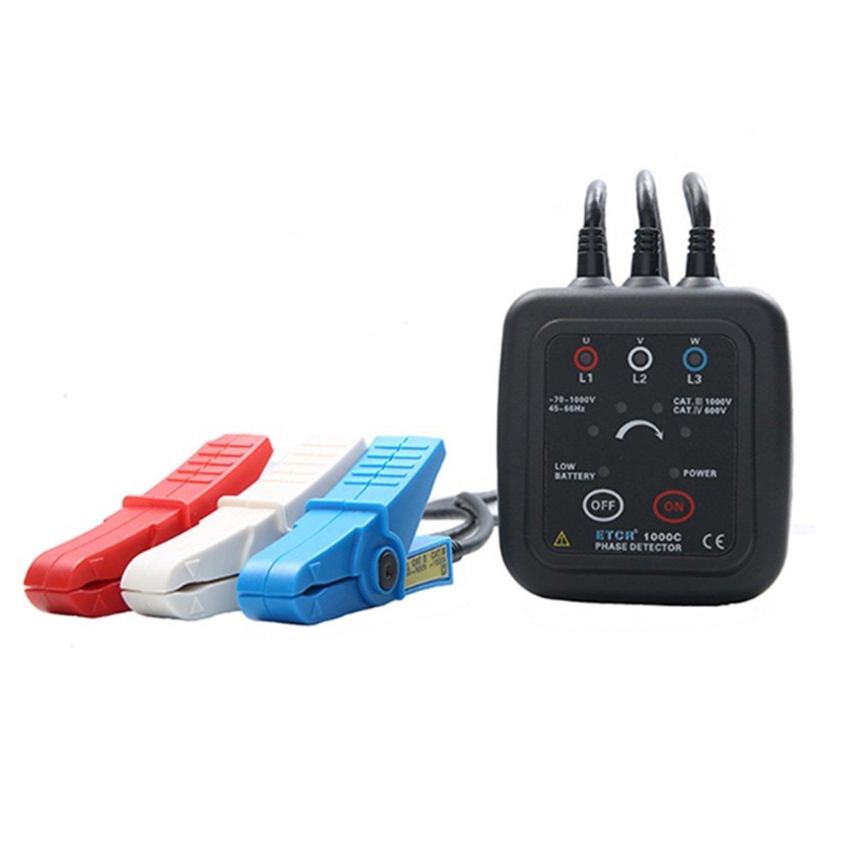 Detector de Fase de Detección de Secuencia de Fase Sin Contacto de Fase, Medidor de Monitor de Rotación de Fase ETCR1000C: Amazon.es: Bricolaje y ...