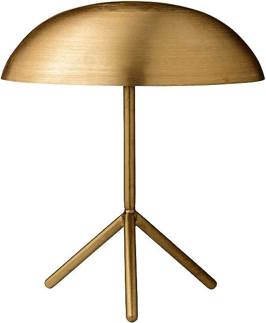 Bloomingville Lámpara de mesa trípode con acabado oro cepillado 40 ...
