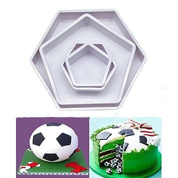Ocamo 4 Kunststoff Creative Fussball Kuchen Form Fondant