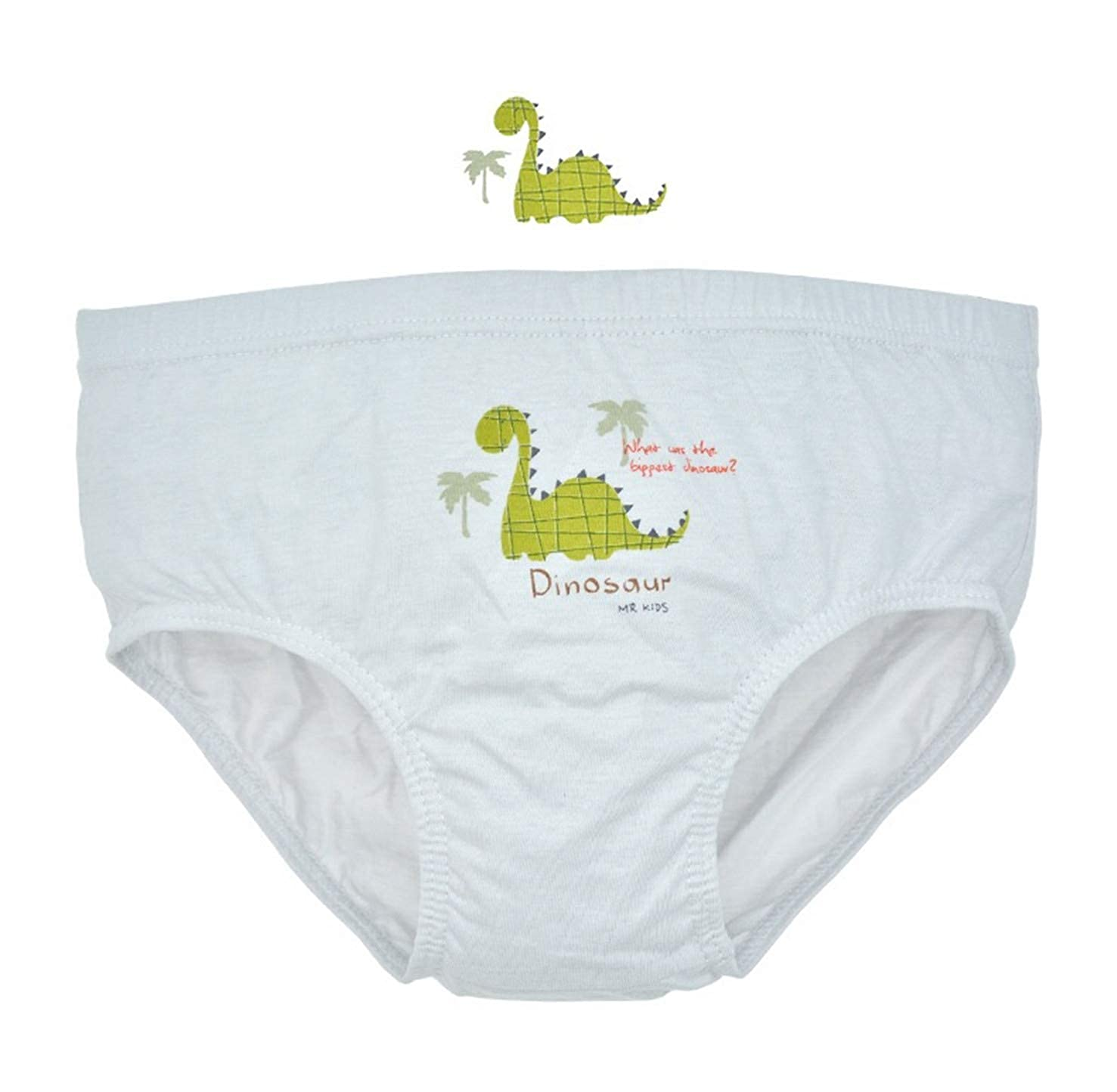 Size 2-14 Ku-lee Kids Little Boys Dinosaur Briefs Underwear for Toddler Pack of 5