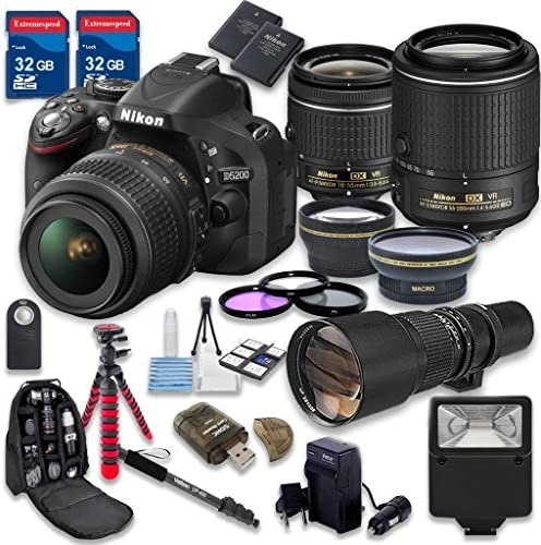 Nikon D5200 Dslr Camera With 18 55mm Lens 55 200mm F Amazon Co Uk Electronics