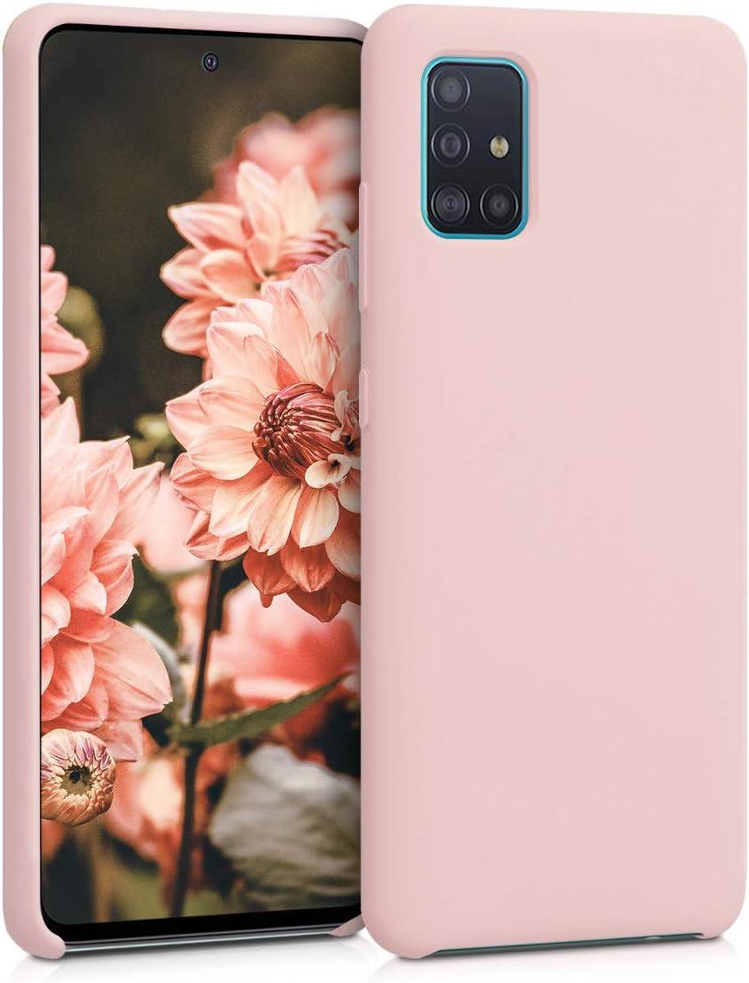 kwmobile Funda Compatible con Samsung Galaxy A51 - Carcasa de TPU para móvil - Cover Trasero en Rosa Palo Mate