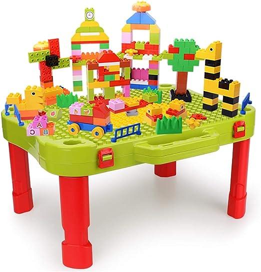 Mesa de Juego Mesa De Bloques De Construcción para Niños Juguetes ...