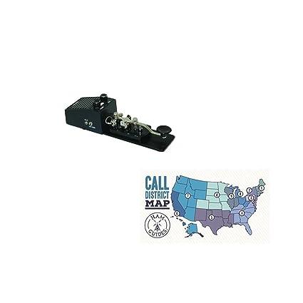 MFJ Morse Code Practice Key and oscillator and Ham Guides TM Pocket  Reference Card Bundle