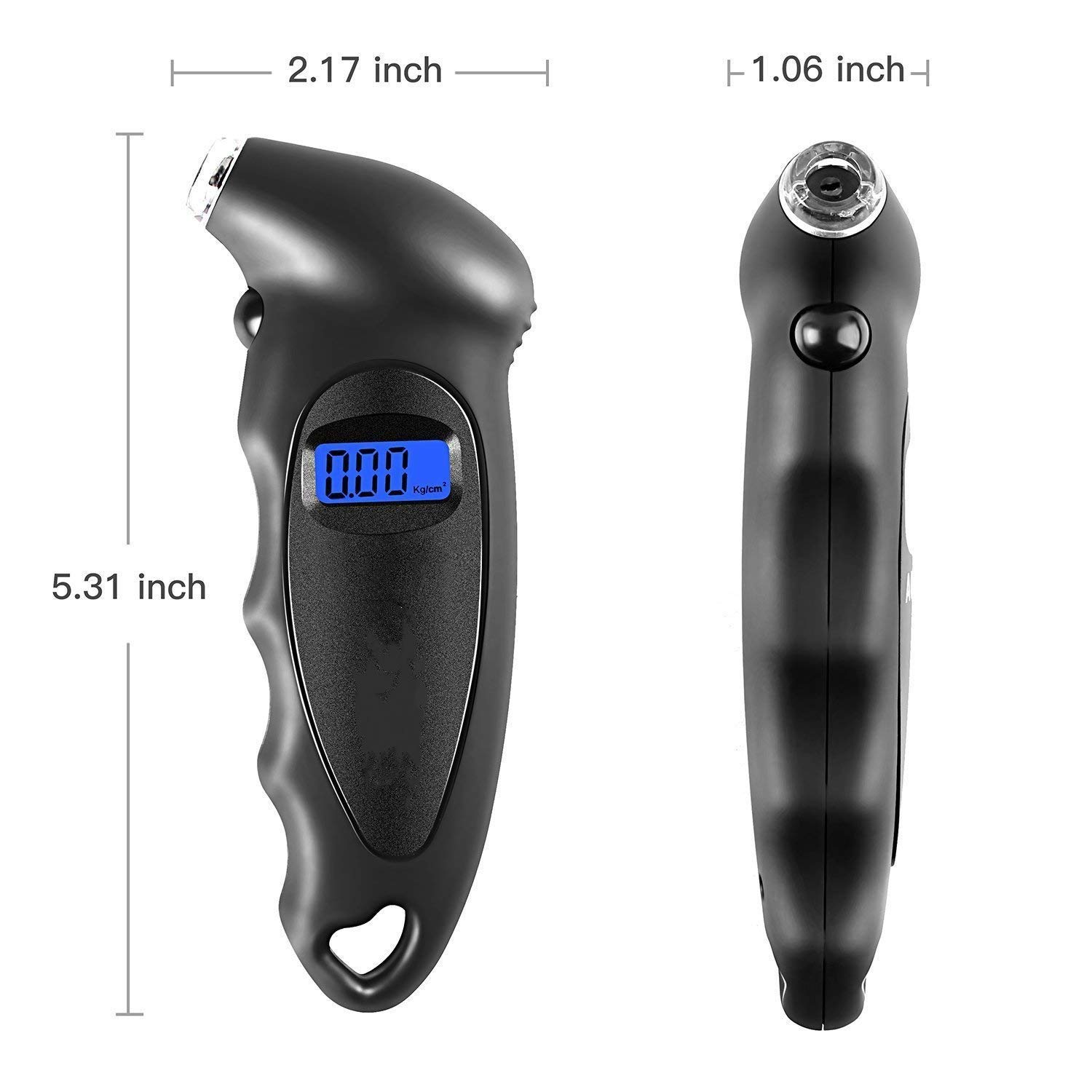 JIDIMI Tyre Pressure Gauge Digital Tyre Gauge With Backlight LCD Display 150 PSI ABS for Cars Bikes Motorcycles etc Black