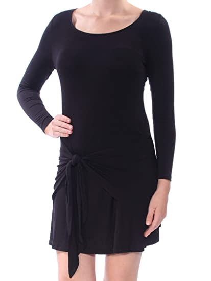 Amazon Love Fire 39 Womens New 1046 Black Tie Long Sleeve