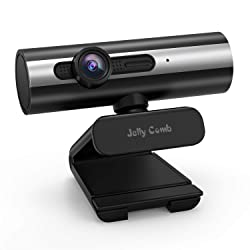 Webcam 1080P Full HD, Jelly Comb Computer Webcam USB Web Camera with Built-in Microphone for Skype, Video Calling,Conferencing, Recording, Streaming