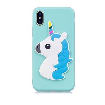 coque iphone x licorne 3d
