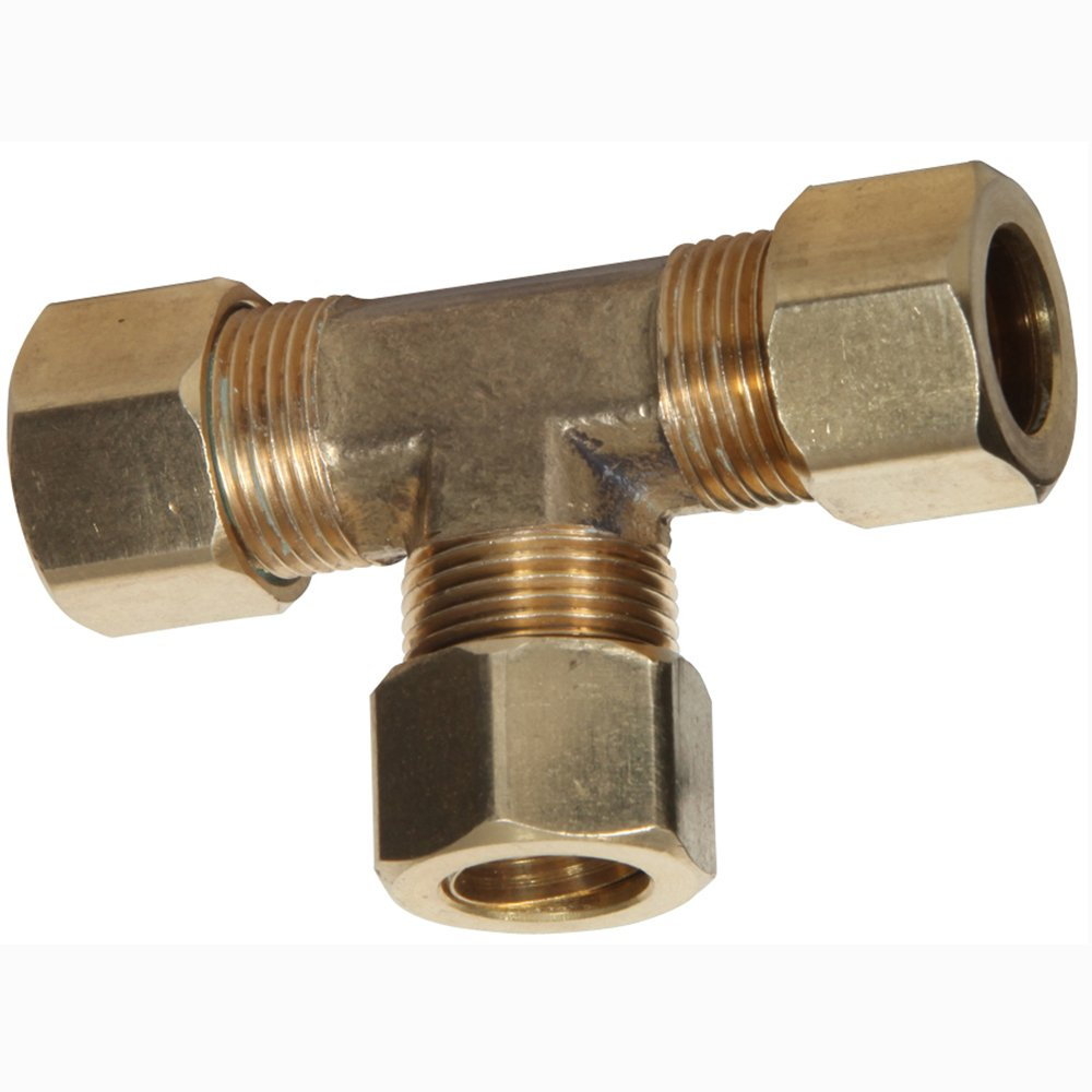 Midwest Control 264X8-P2 1//2 Brass Branch Tees OD Tube 2 Pack Midwest-Control