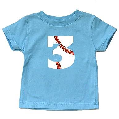 Toddler 3rd Birthday Shirt Baseball Third Bday Tee Sports Boy Or Girl Trendy Three Kids