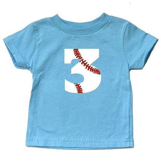 Amazon Toddler 3rd Birthday Shirt Baseball Third Bday Tee