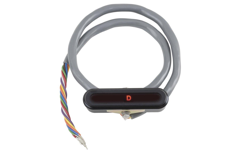 Lokar XCIND-1700 Black Aluminum LED Horizontal Dash Indicator Bezel