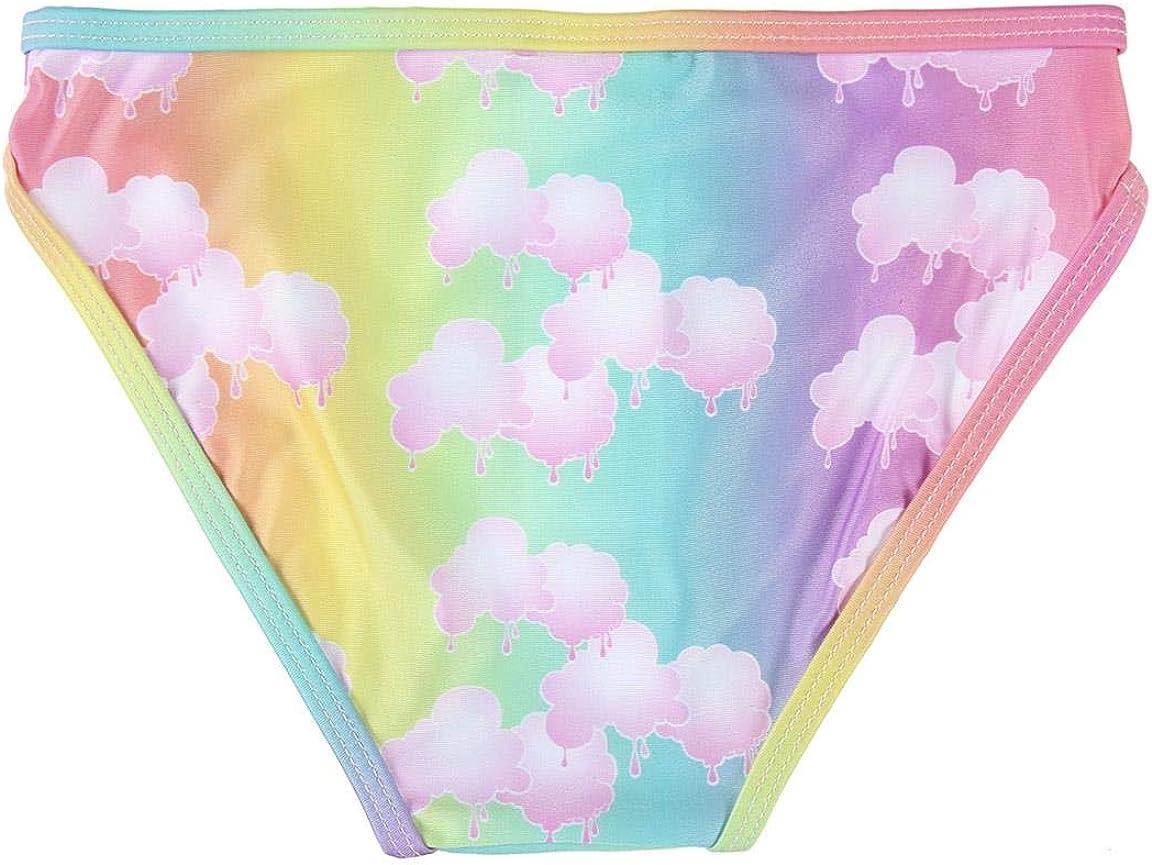 Fille Coton Characters Cartoons Poopsie Slime Surprise Bikini Maillot de Bain 2 Pi/èces Mer Piscine avec Volant