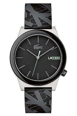 Lacoste Reloj Análogo clásico para Hombre de Cuarzo con Correa en Silicona 2010937: Amazon.es: Relojes