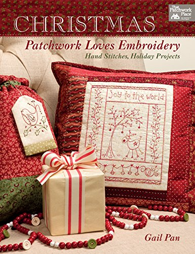 Christmas Patchwork Loves Embroidery: Hand Stitches, Holiday - Redwork Design