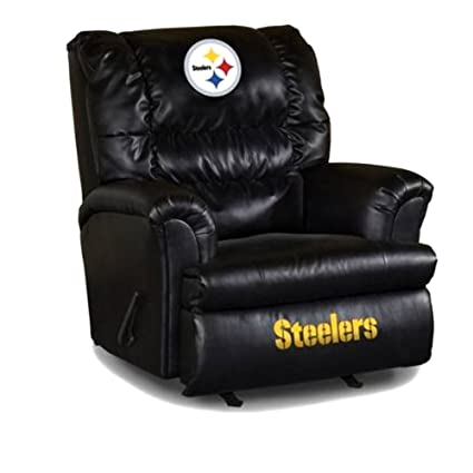 Imperial Officially Licensed NFL Furniture: Big Daddy Leather Rocker  Recliner, Pittsburgh Steelers