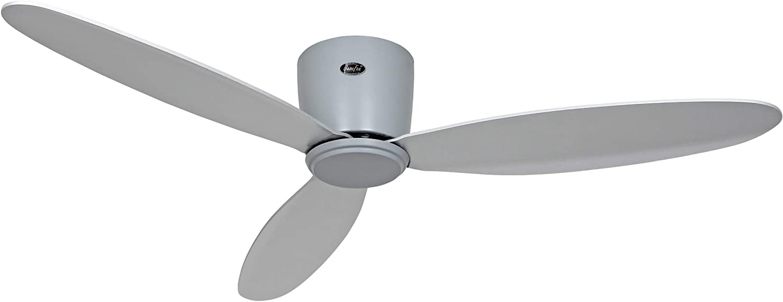 Casafan Eco Flat II Low Ceiling Fan 112 cm up to 15 m/² Brushed chrome