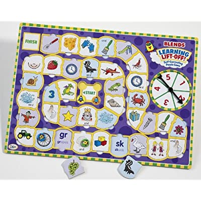 Didax Educational Resources Learning Lift-Off! Blends Game: Toys & Games [5Bkhe0704731]