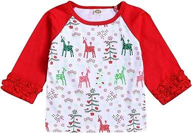 K-Youth Ropa Bebe Niña Invierno Navidad Reno Impresión Camiseta Manga Larga Bebe Niños 0 a 5 años Blusa Recien Nacido Bebes Otoño Ropa para Niño Primavera Chandal Niñas Tops Oferta: Amazon.es: Ropa