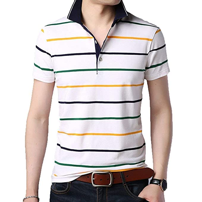 2ea78fc4bb Polo Camisa para Hombre De Verano con Deportes Mode De Marca Contraste En  Deportes Al Aire