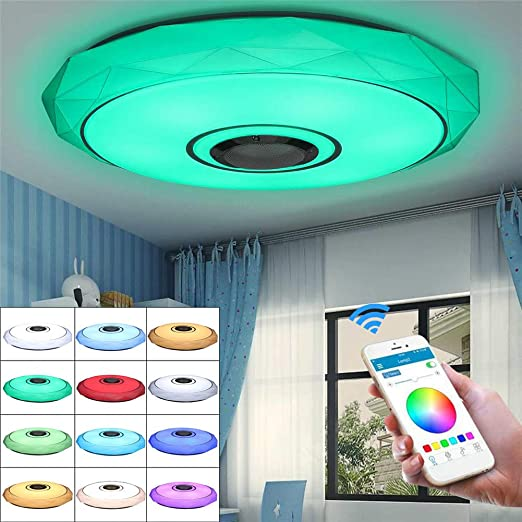 SHELLTB Luz de Techo LED RGB Regulable con Control de APLICACIÓN ...