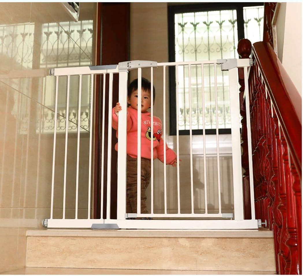 Puerta De Bebé Expansión Puerta del bebé Mascota Perro Escalera Puerta de la barandilla Valla de la puerta del jardín Barandilla resistente a los golpes Barandilla Puerta de aislamiento de la valla