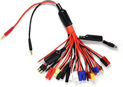RC Multi Charging Leads 8 Plugs Adapter With Banana Plug XT60 JST Tamiya Traxxas