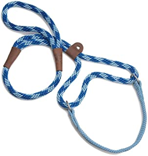 product image for Mendota Pet Dog Walker, Martingale Style Leash - Leash & Collar Combo, Made in The USA - Sapphire, 1/2 in x 6 ft - for Large Breeds