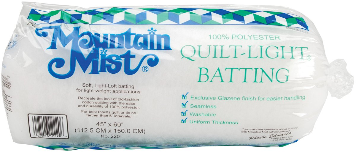 Quilt-Light Polyester Batting Mountain Mist 220MM
