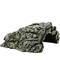 Comfortable Hideout Stone Cave Shelter Hiding Turtle House Calming Effect by Simulating Natural Habitat Ideal for Aquarium Fish Hamster Hermit Crabs Spider & Reptile