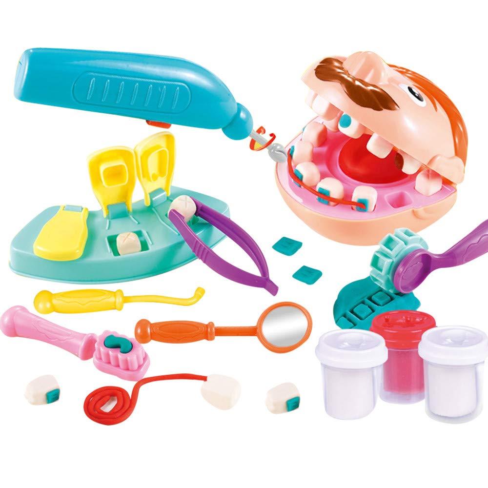 【訳あり】 子供用 歯科医 クリエイティブ DIY DIY B07Q2VG81T 粘土 クリエイティブ 子供 ごっこ遊び おもちゃ B07Q2VG81T, 東藻琴村:8efb5143 --- pmod.ru