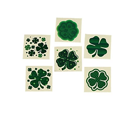Fun Express Shamrock Patterned Tattoos (6 Dozen)
