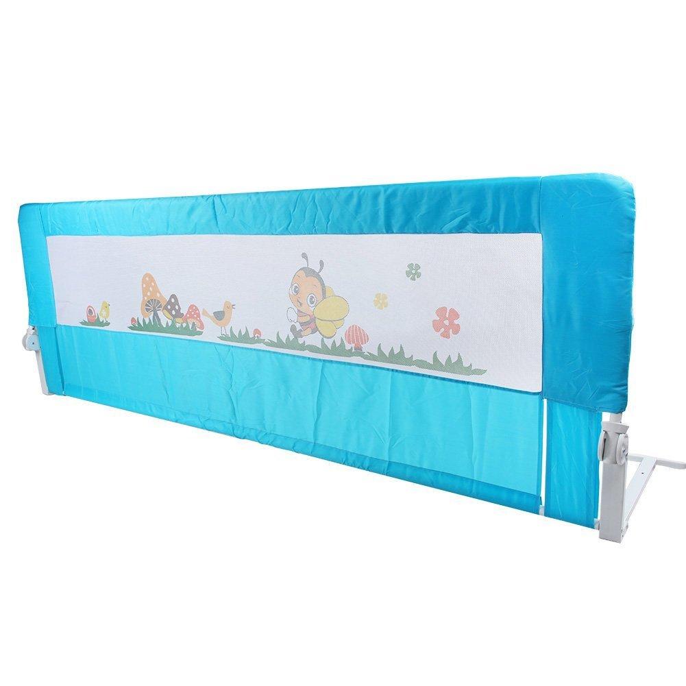 150//180cm Barrières de Lit Enfants Bébés Protection Bord de Lit pour Sécurité des Enfants Bébés Motif Aléatoire CUSCO 150cm, Rose