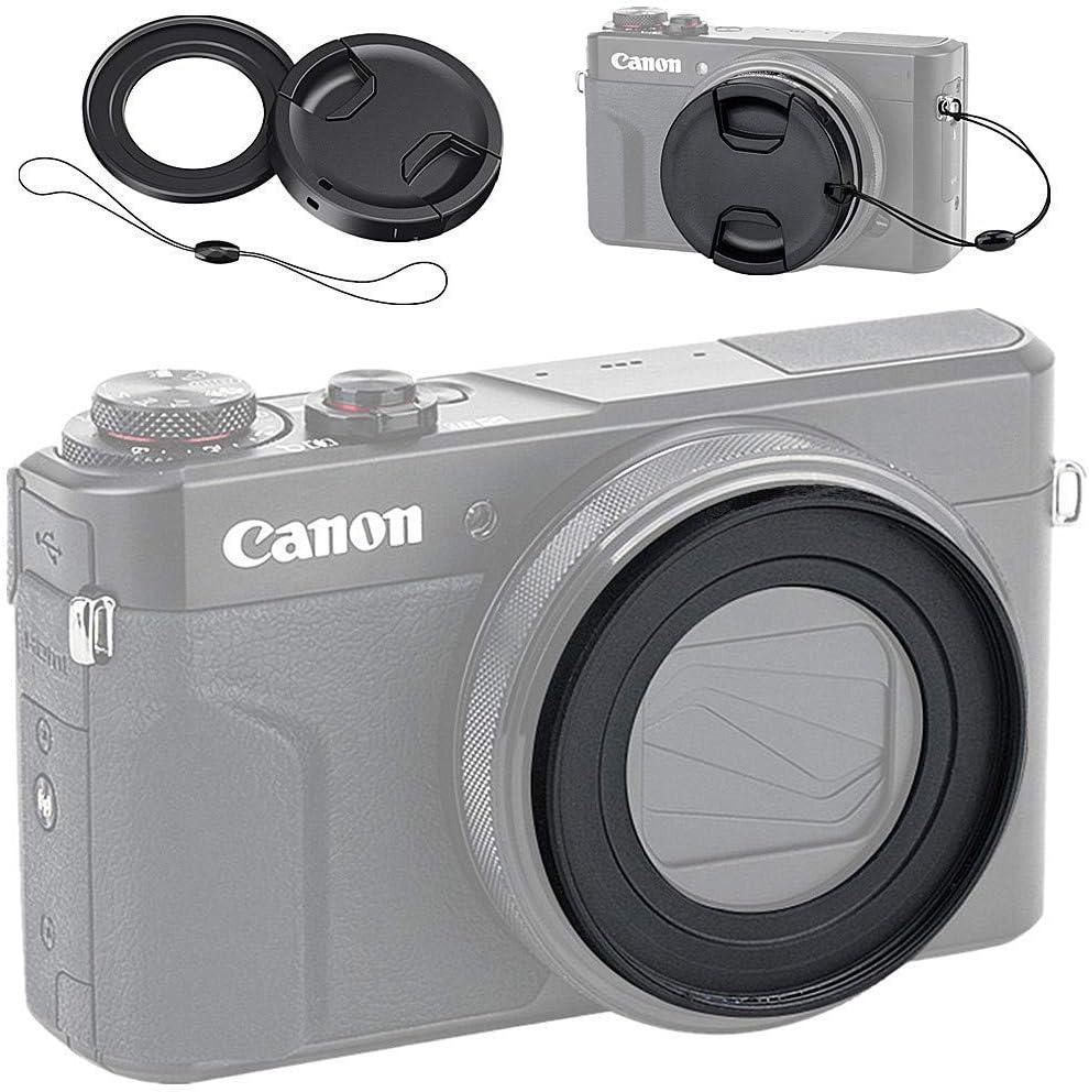 Adapter G7x Mark II /& G7x Mark III 0.45x High Definition Super Wide Angle Lens w//Macro Canon PowerShot G7 X Filter Kit