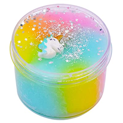 SWZY Unicorn Slime Cloud Slime , Unicorn Surprise Slime Toy for Kids and Adult Stress Relief Toy.: Juguetes y juegos