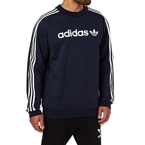 Adidas Linear Crew Sudadera, Hombre, Azul (Tinley), XL: Amazon.es: Deportes y aire libre