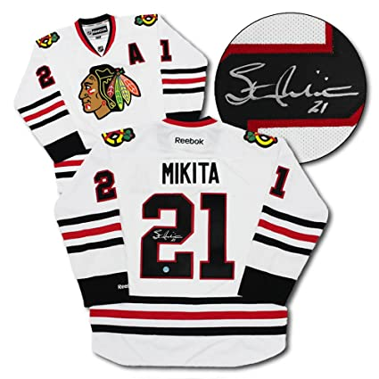 Image Unavailable. Image not available for. Color  Stan Mikita Chicago  Blackhawks Autographed White Reebok Hockey Jersey 02261df66