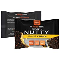 The Protein Works Protein Nutties Single, High Protein Nut Snack, Peanut Crunch, 40 g