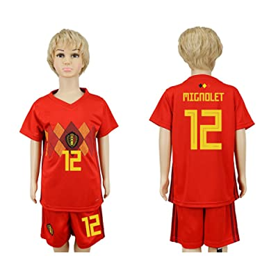YJL 2018 World Cup Belgium National Team #12 Soccer Jersey Kids/Youths Size
