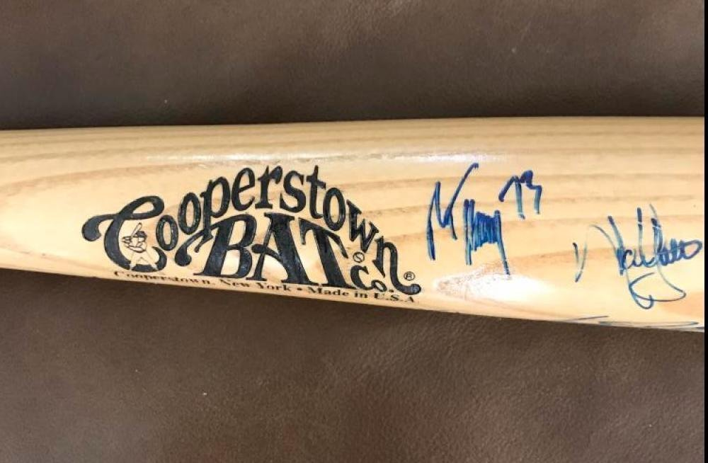 New York Mets 2002 Signed Autograph Auto Cooperstown Bat With 19 Signatures With Coa & Ticket