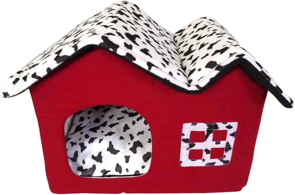 Lifemaison Cuccia Letto per Animali Domestici Canile Estraibile e Lavabile Letto per Cane Gatto 1 PCS 45cmx40cmx12cm, caff/è Marrone