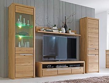 wohnwand pisa 31 eiche bianco massiv 4 teilig medienwand tv wand wohnzimmer tv