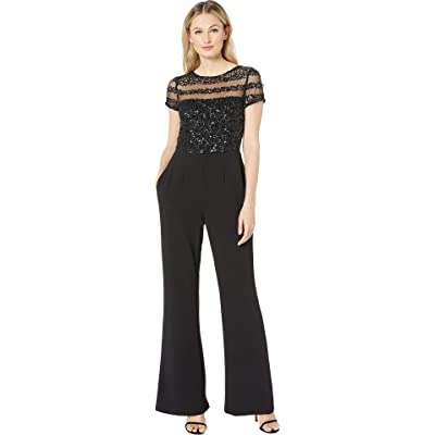 Adrianna Papell Womens Crepe Jumpsuit: Clothing