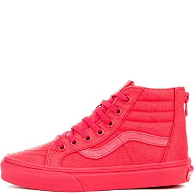 c78cde0c05 Image Unavailable. Image not available for. Color  Vans G SK8-Hi Zip  Sneakers (Mono) Paradise Pink Glitter Girls 11.5