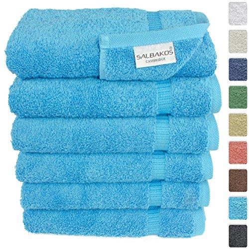 Turkish Luxury Hotel   Spa 16 x30  Hand Towel Set of 6 Cotton From Turkey    700gsm Organic Eco friendly  Hand Towels  Aqua. Teal Hand Towels  Amazon com