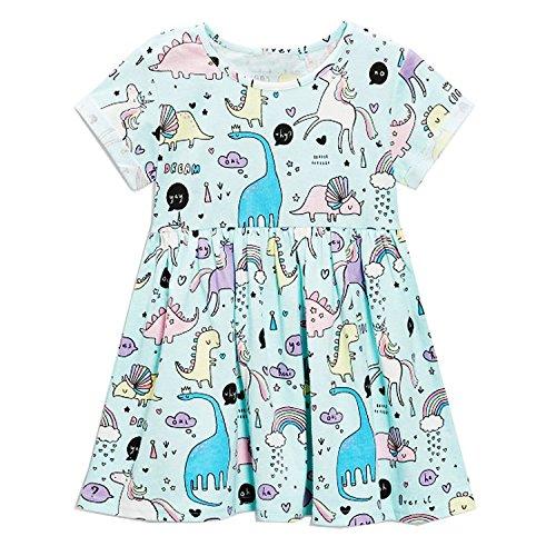 Animal Unicorn Princess Dress Children Costume for Kids Clothes Baby Dress Dropshipping,98,6